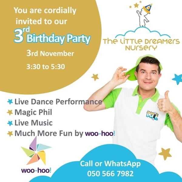 3rd birthday party the little dreamers nursery dubai
